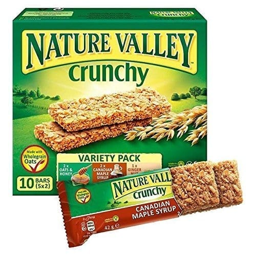 Nature Valley Crunchy Variety Pack Cereal Bars 5 x 42g
