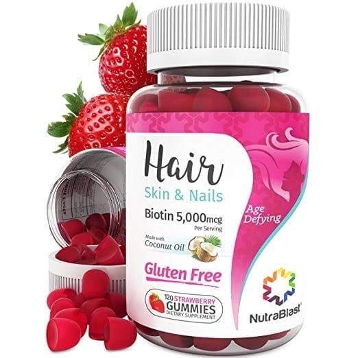 NutraBlast Biotin 5000 mcg Enhanced with Coconut Oil