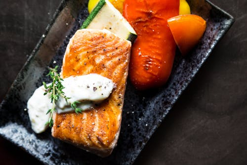 Tahini Herb Crusted Salmon Sheet Pan Meal, Let's See The Recipe